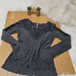 Free People Charcoal Long Sleeve #